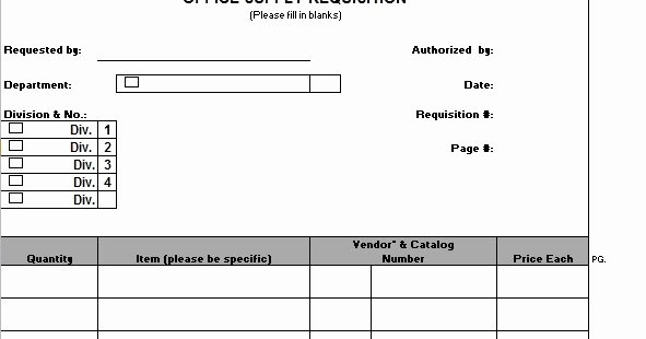 Office Supplies Request form Unique Fice Supply Requisition form Template Sample