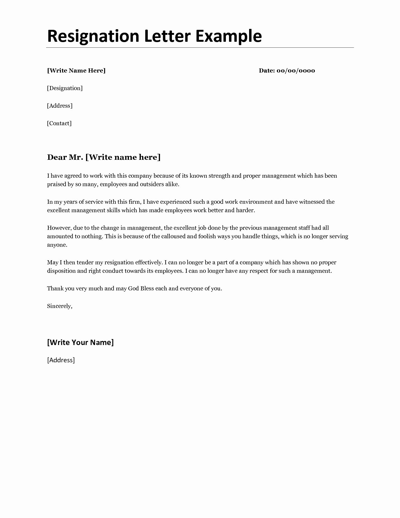 Official Letter Of Resignation Inspirational Ficial Letter Resignation Template Examples