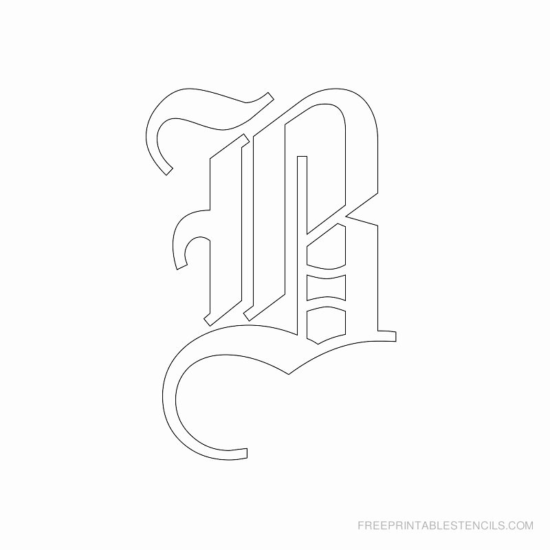 Old English Alphabet Stencils Awesome Pitfiles Blog