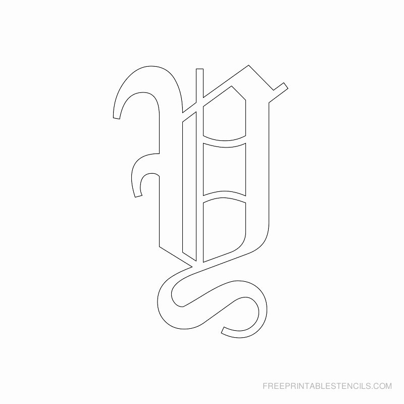 Old English Alphabet Stencils Awesome Printable Old English Letter Stencils