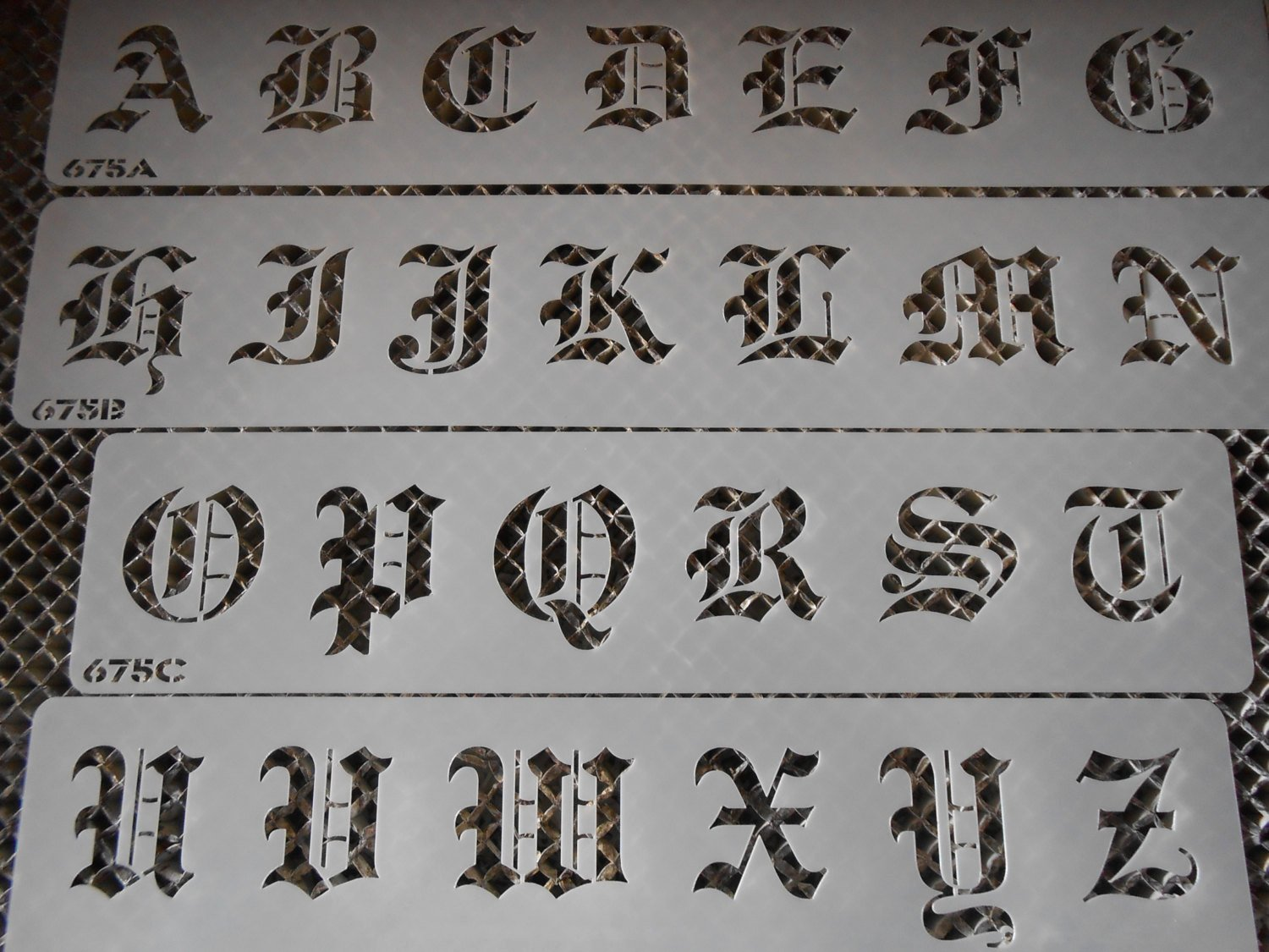 Old English Alphabet Stencils Beautiful Old English Stencil Letters Set 112