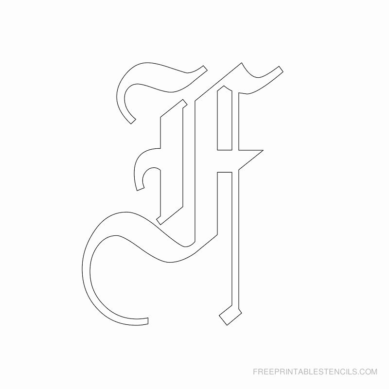 Old English Alphabet Stencils Beautiful Printable Old English Alphabet Stencil F