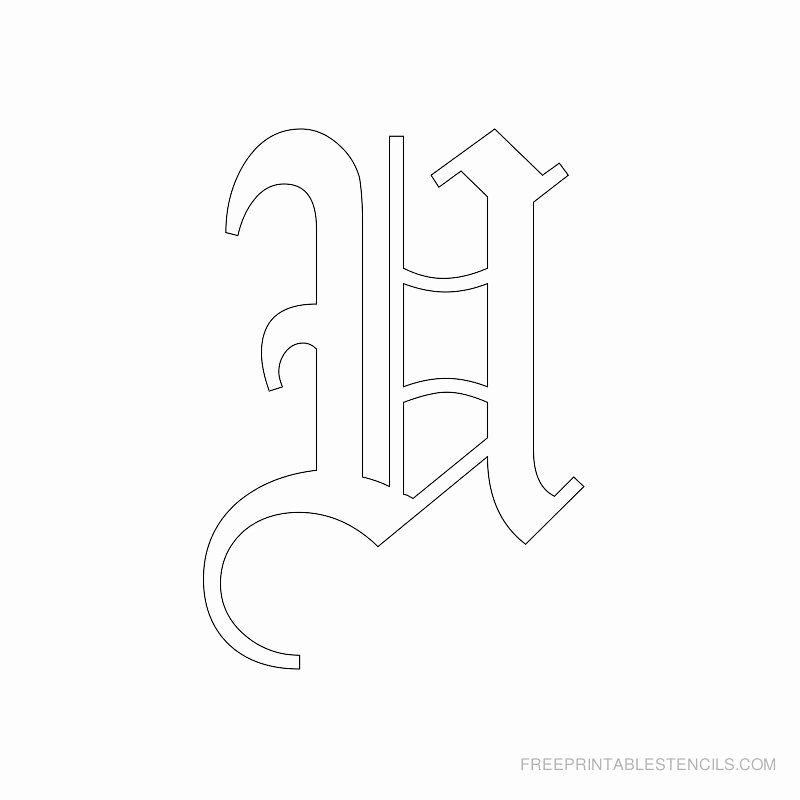 Old English Alphabet Stencils Beautiful Printable Old English Alphabet Stencil U Crafts