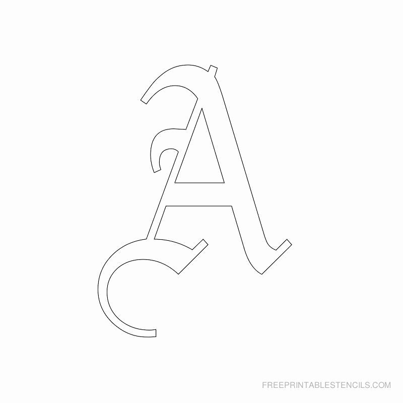Old English Alphabet Stencils Beautiful Printable Old English Letter Stencils