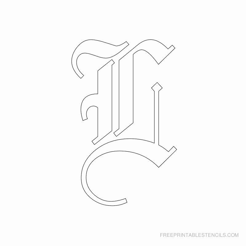 Old English Alphabet Stencils Best Of Printable Old English Alphabet Stencil L Stencils