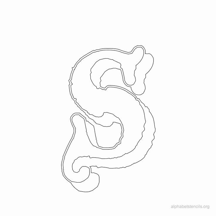 Old English Alphabet Stencils Elegant Print Free Alphabet Stencils Old English S
