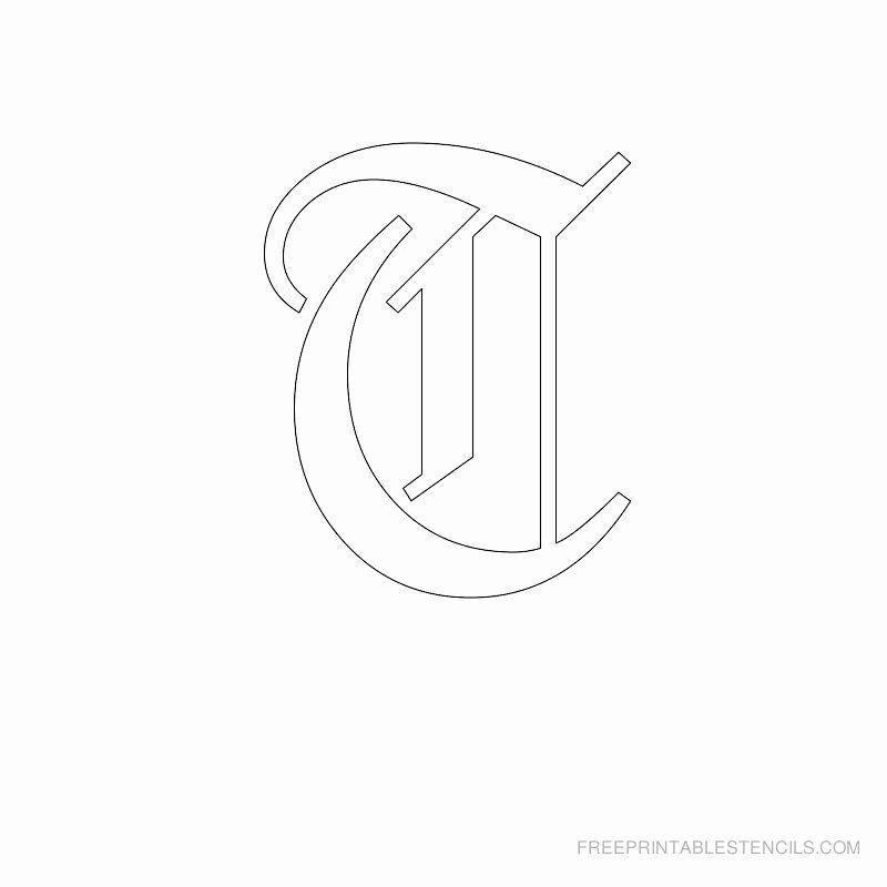 Old English Alphabet Stencils Elegant Printable Old English Alphabet Stencil T Crafts