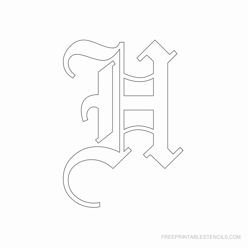 Old English Alphabet Stencils Elegant Printable Old English Letter Stencils