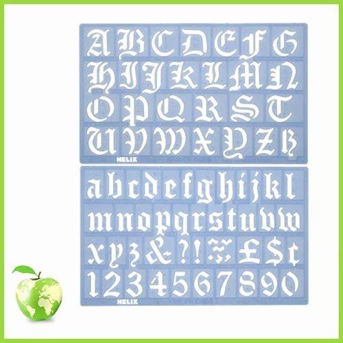 Old English Alphabet Stencils Fresh Alphabet Stencil Set Helix Old English Alphabet Stencil