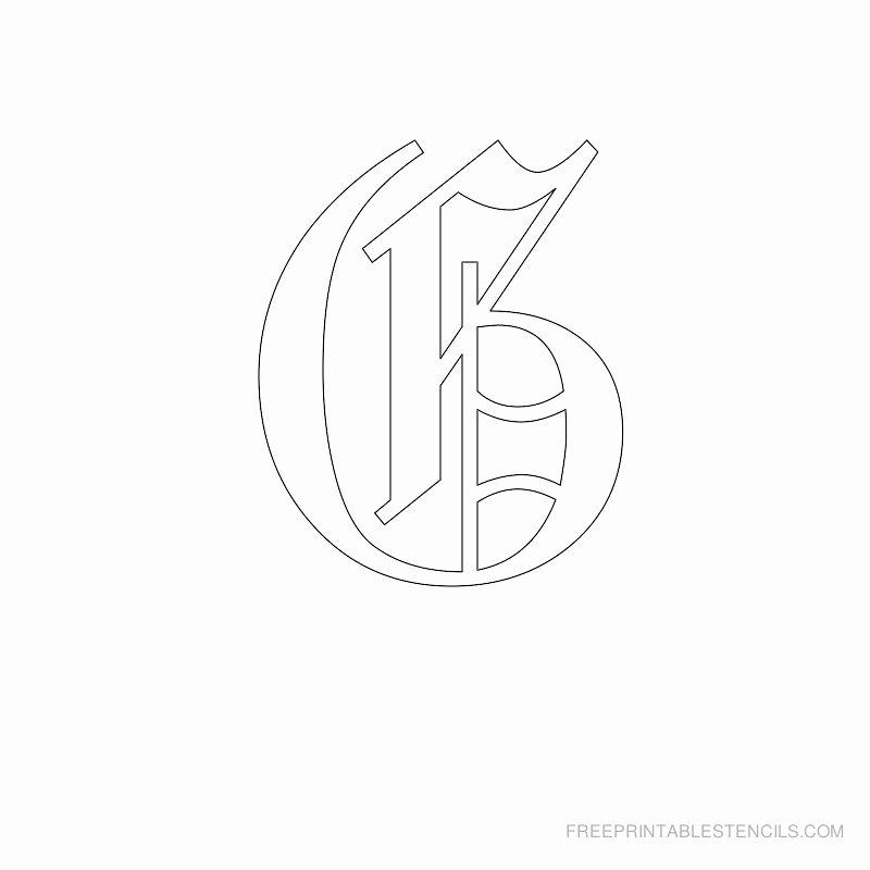 Old English Alphabet Stencils Fresh Printable Old English Letter Stencils