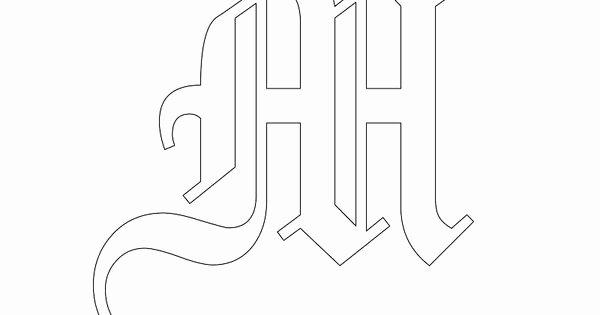 Old English Alphabet Stencils Inspirational Printable Old English Alphabet Stencil M