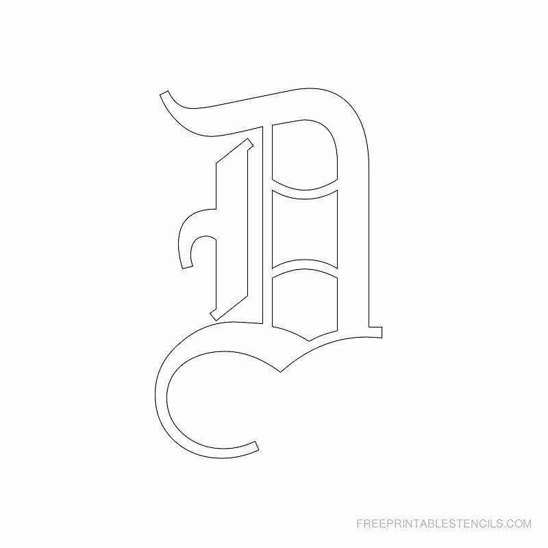 Old English Alphabet Stencils Lovely Printable Old English Alphabet Stencil D Crafts