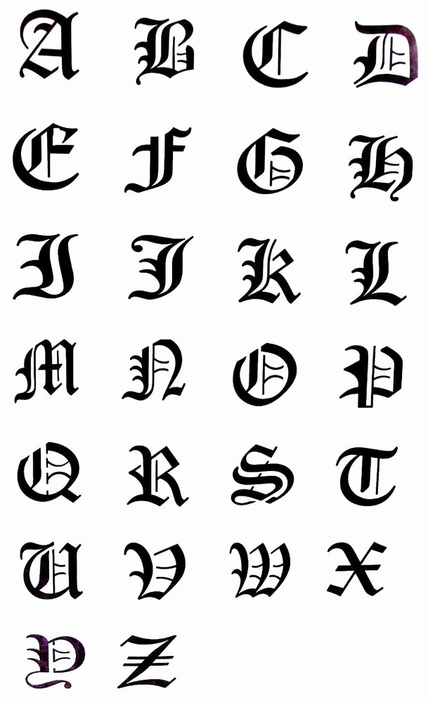 Old English Alphabet Stencils Luxury Airbrush Stencils Mini Old English Alphabet New