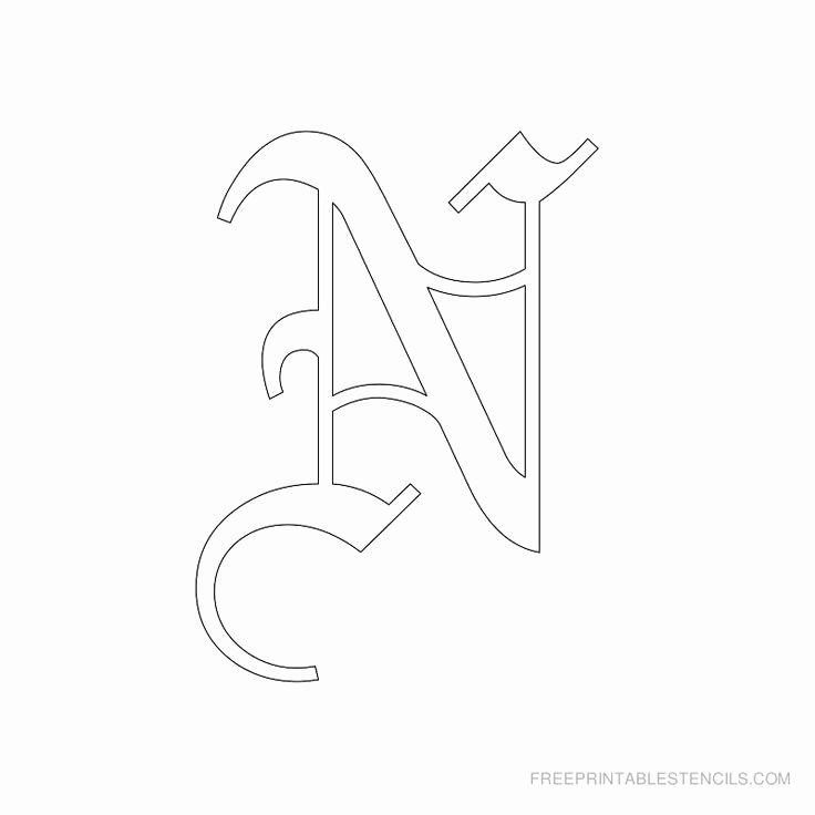 Old English Alphabet Stencils Unique Best 25 Old English Tattoo Ideas On Pinterest