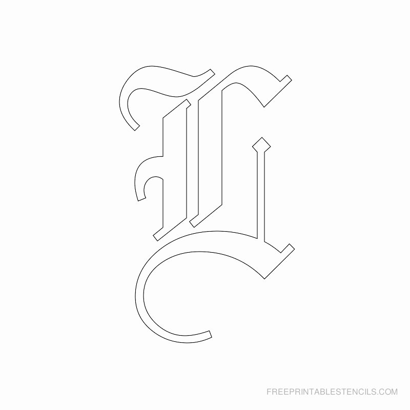 Old English Alphabet Stencils Unique Printable Old English Letter Stencils