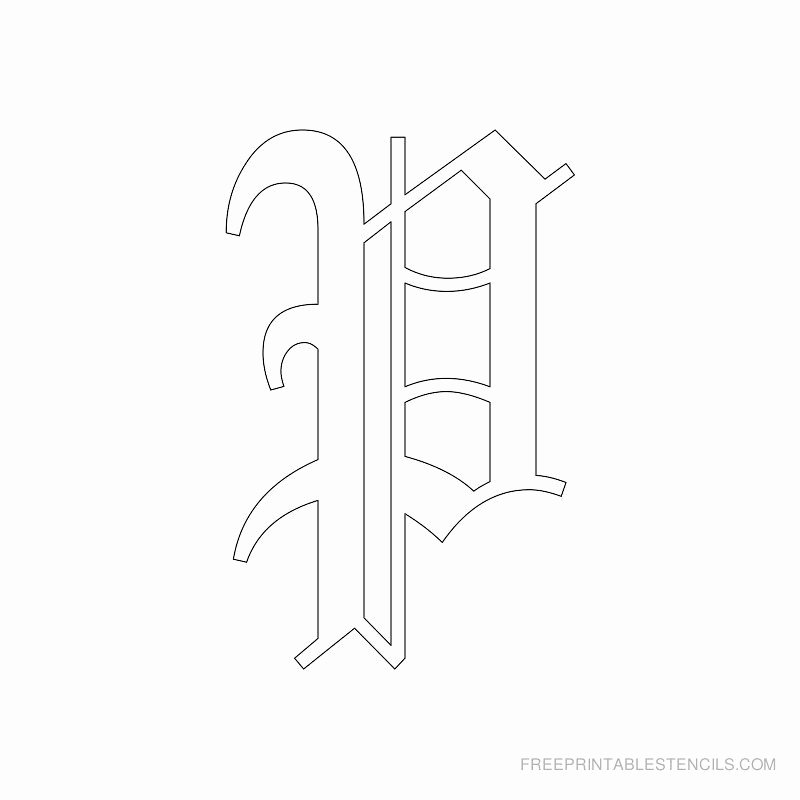 Old English Letter Stencils Beautiful Printable Old English Alphabet Stencil P