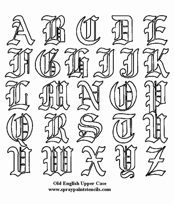 Old English Letter Stencils Elegant Tattoo Fonts Old English 21 and Wallpaper Blog