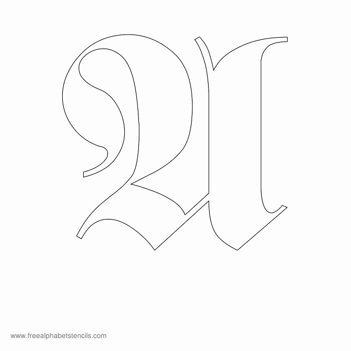 Old English Letter Stencils Lovely Free Printable Stencils for Alphabet Letters Numbers