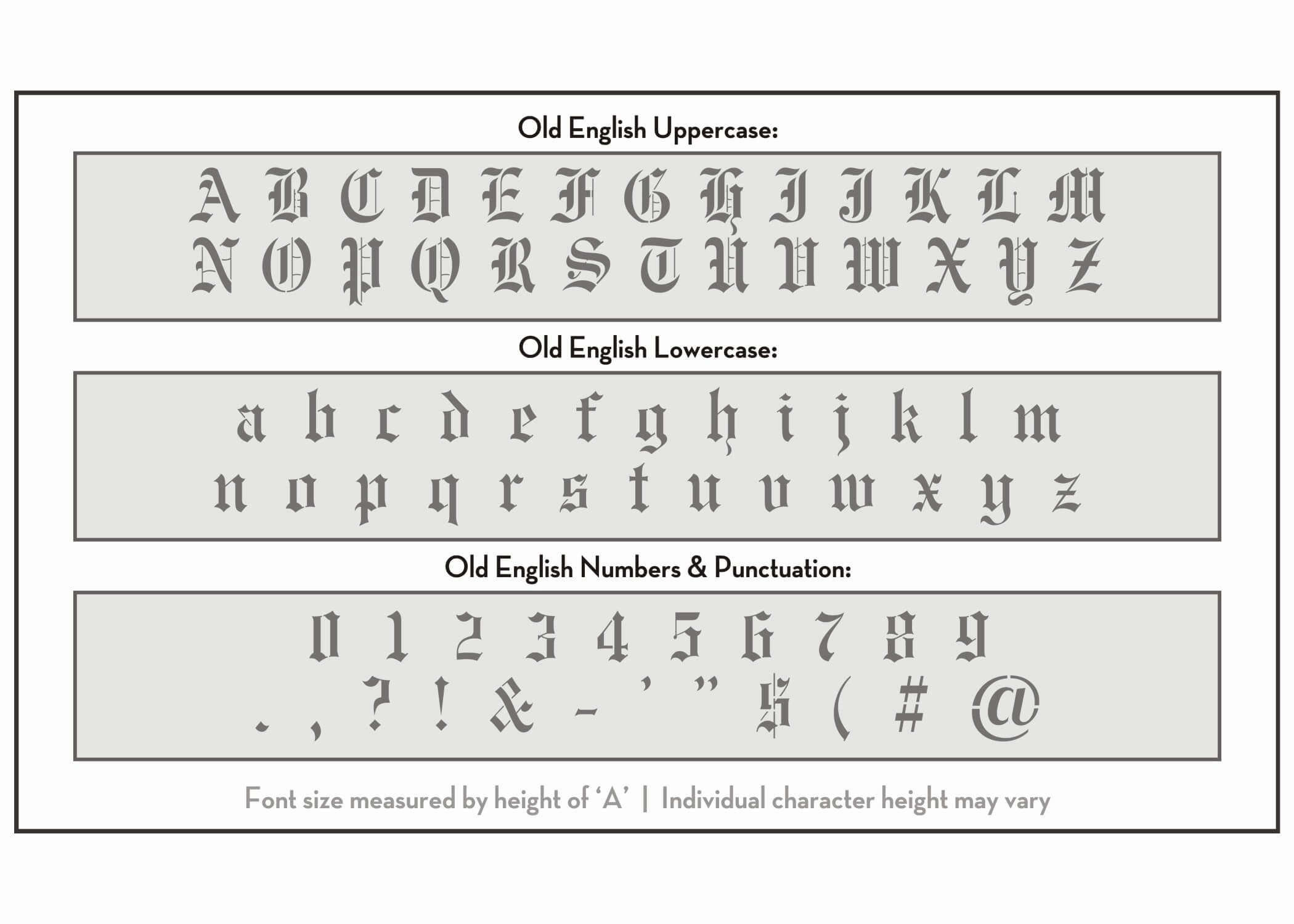 Old English Letter Stencils Luxury Old English Font Alphabet Stencil