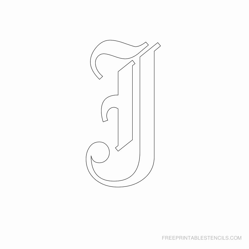 Old English Letter Stencils Luxury Printable Old English Letter Stencils