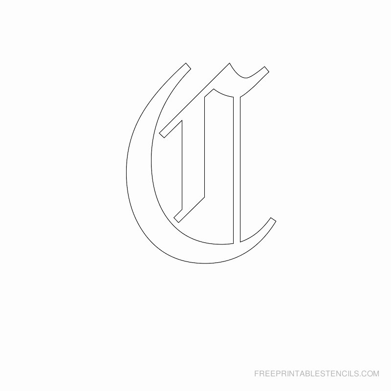 Old English Letter Stencils New Printable Old English Letter Stencils