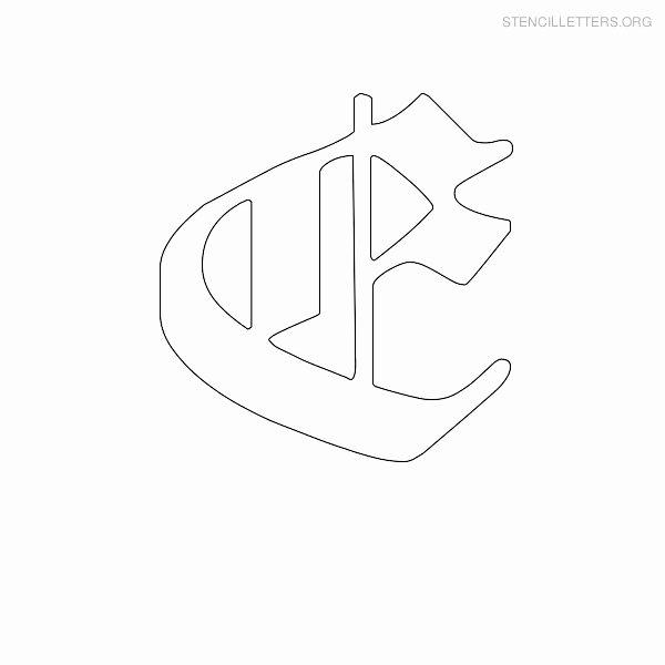 Old English Letter Stencils New Stencil Letters E Printable Free E Stencils