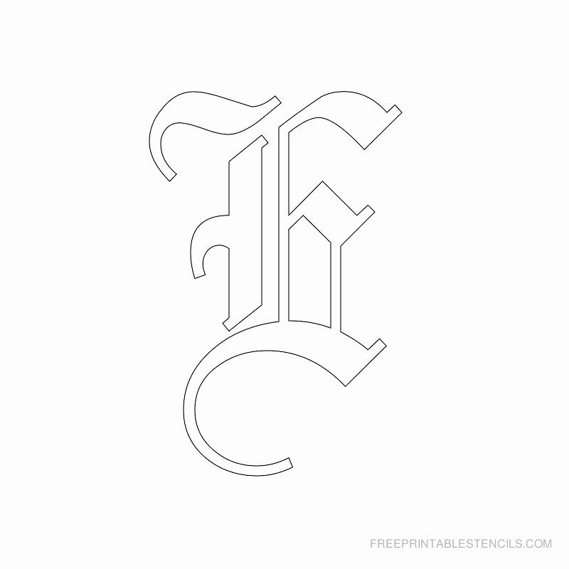 Old English Letter Stencils Unique Printable Old English Letter Stencils