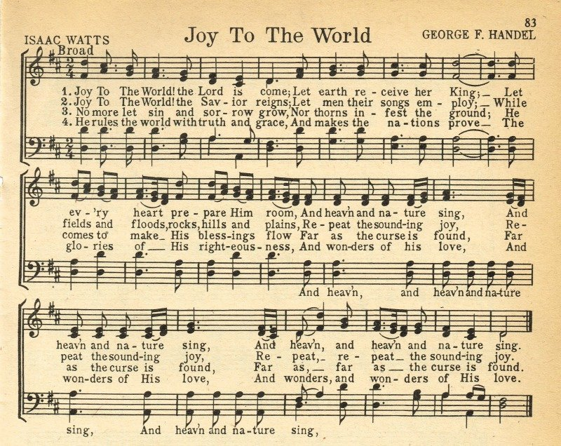 Old Looking Paper Printable Lovely Christmas Music Printables Joy to the World More