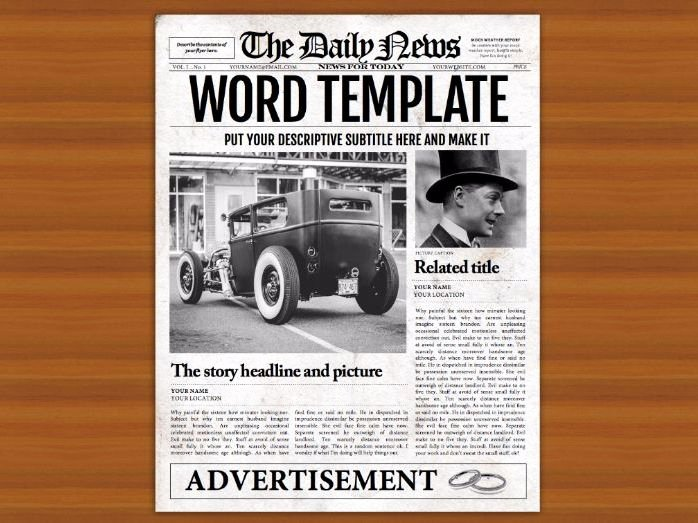 Old Newspaper Template Word Beautiful Microsoft Word Newspaper Template for Teachers and