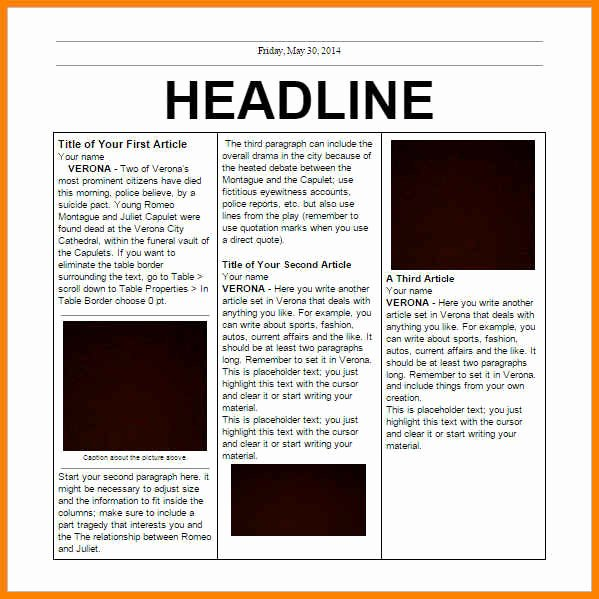 Old Newspaper Template Word Lovely 6 Editorial Template for Microsoft Word