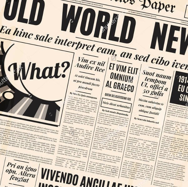 Old Newspapers Front Page Unique 29 Newspaper Design Templates Psd Apple Pages