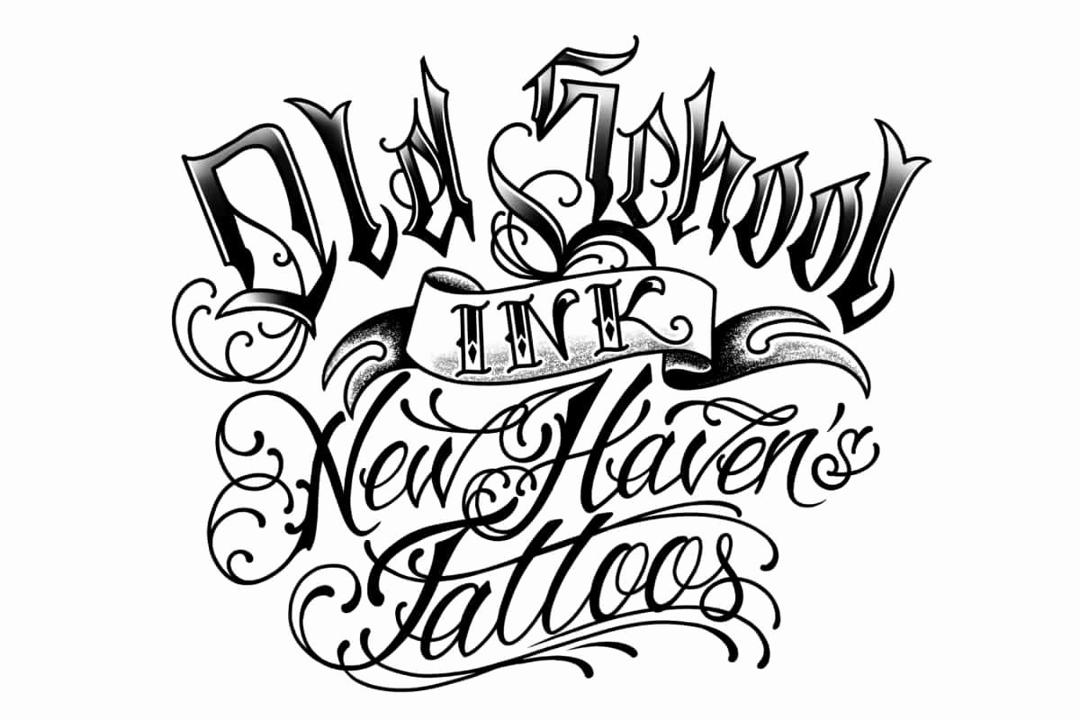 Old School Tattoo Font Beautiful 19 [ Tattoo Designs Old English Lettering ]