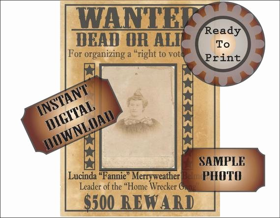 Old West Wanted Sign Awesome Wanted Poster Printable Old West Bachelorette Party Decor