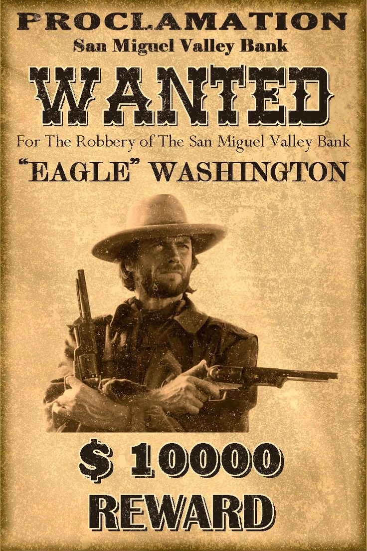 Old West Wanted Sign New Western Wanted Postersclassic Western Wanted Poster by Mt