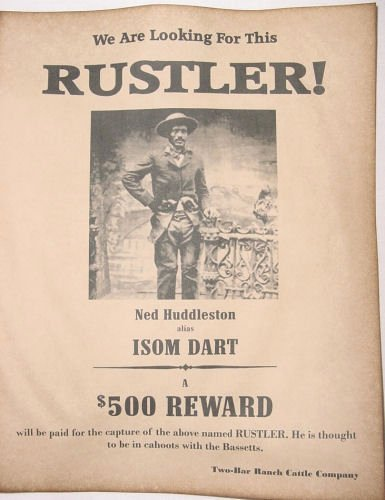 Old Western Wanted Poster Beautiful isom Dart Wanted Poster Western Outlaw Old West