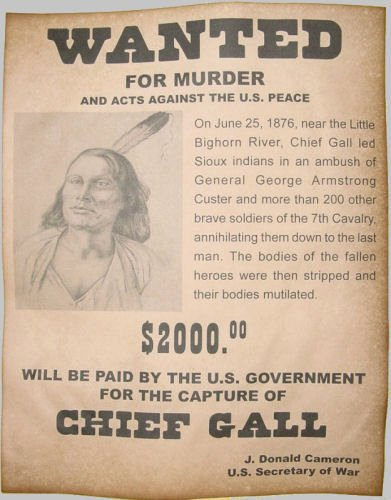Old Western Wanted Poster Best Of Chief Gall Wanted Poster Western Old West Indian