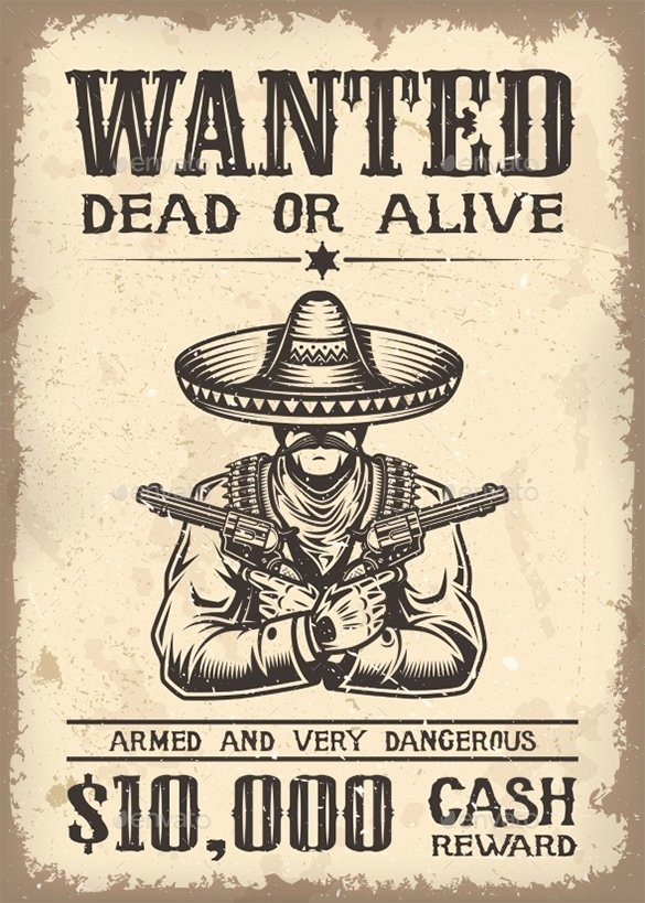 Old Western Wanted Poster Inspirational 17 Western Wanted Poster Templates Free Printable