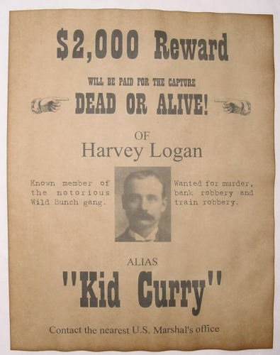 Old Western Wanted Poster Inspirational Kid Curry Wanted Poster Western Outlaw Old West Wild