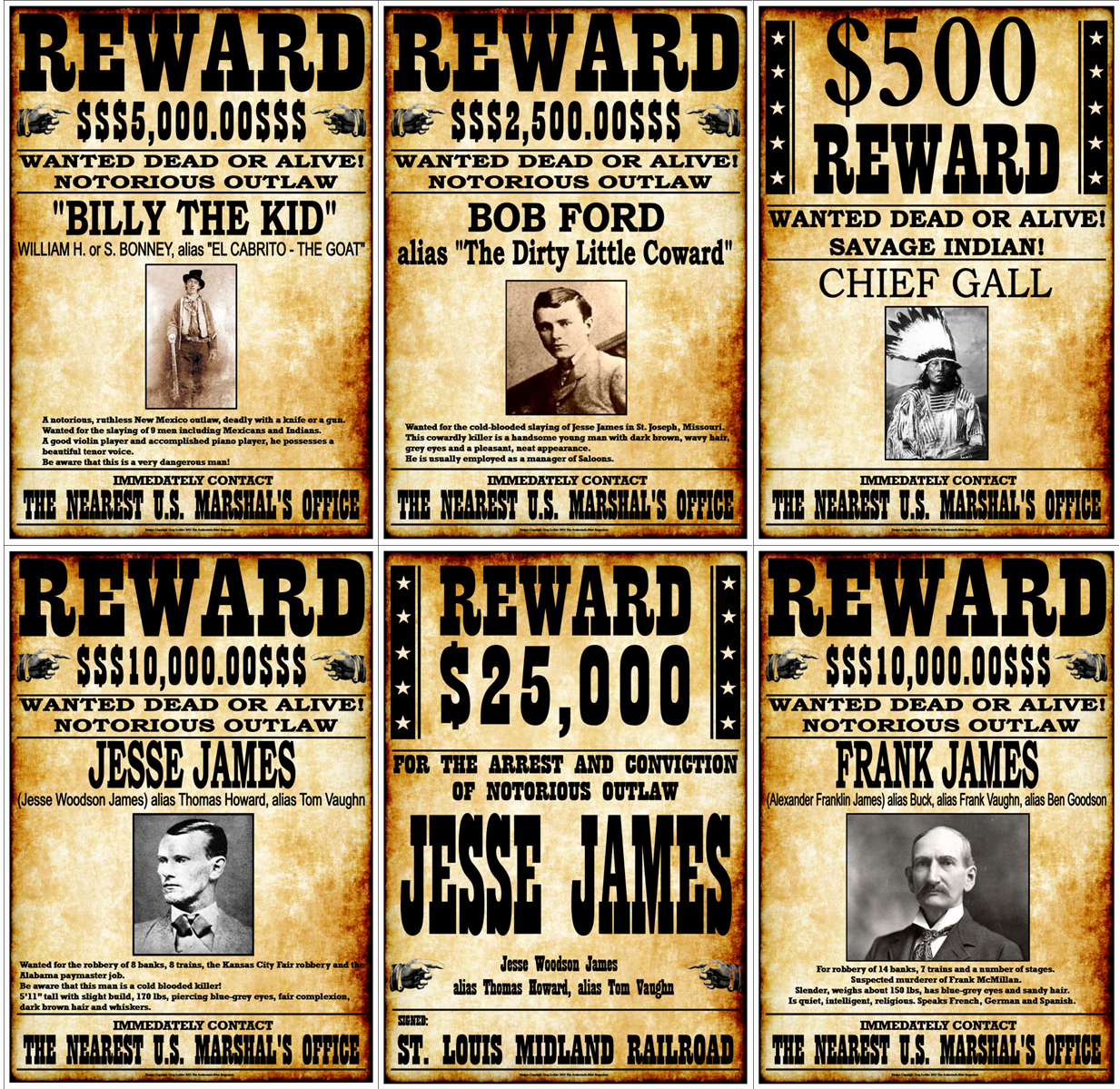 Old Western Wanted Poster Luxury Outlaws the Old West Collector S Set Of 19 Fantastic