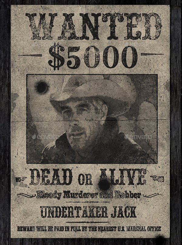 Old Western Wanted Poster New 16 Wanted Poster Templates Free Sample Example format