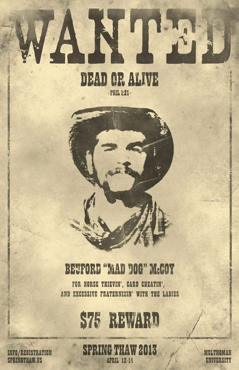 "Old Western Wanted Poster New Poster Inspiration for ""best In the West"" Teacher"
