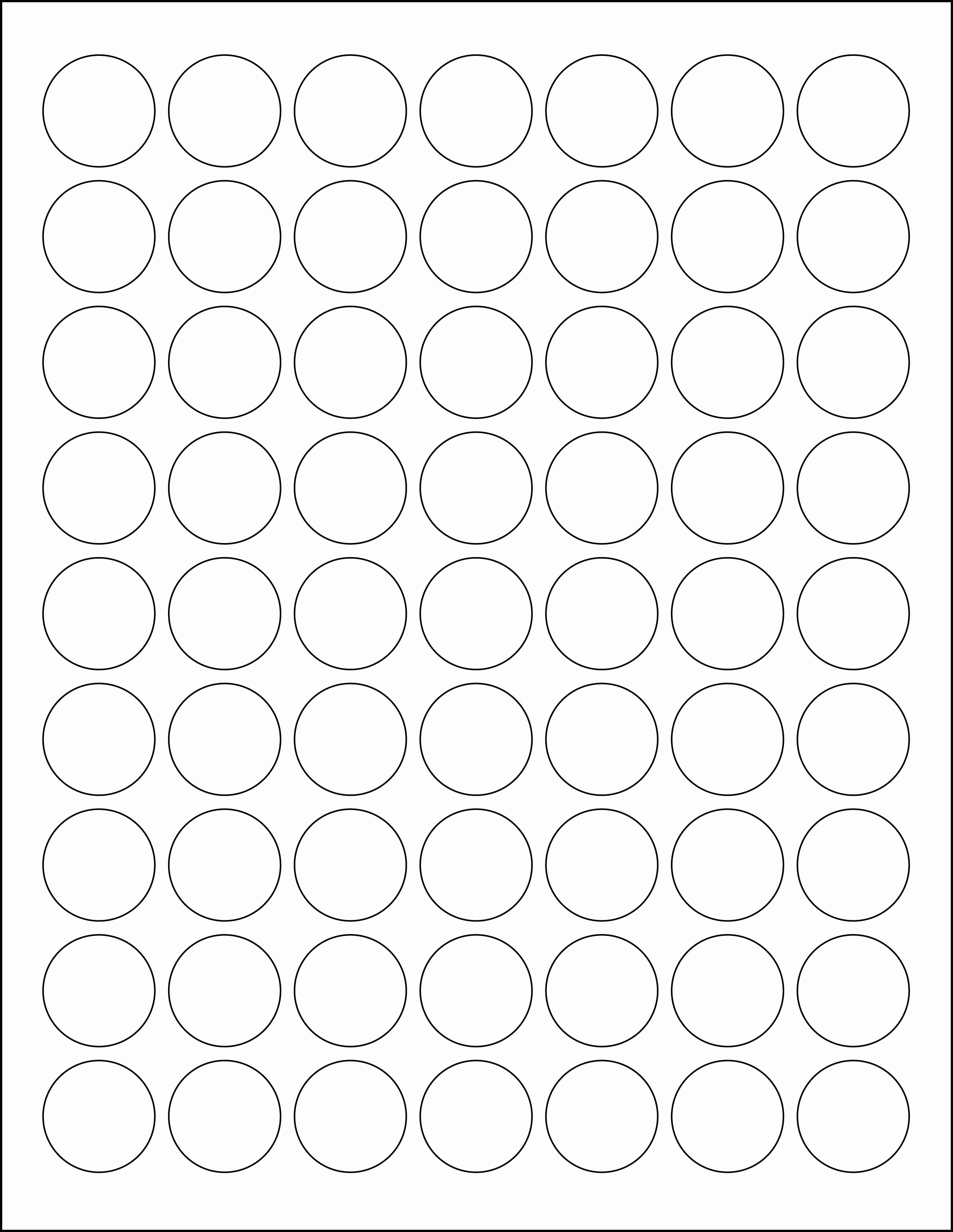One Inch Circle Template Fresh 1 Inch Circle Laser Label Sheet