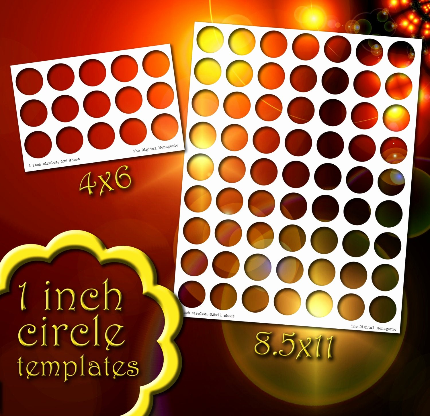 One Inch Circle Template Fresh Templates 1 Inch Circles 4x6 and 8 5x11 Sheets Png Shop