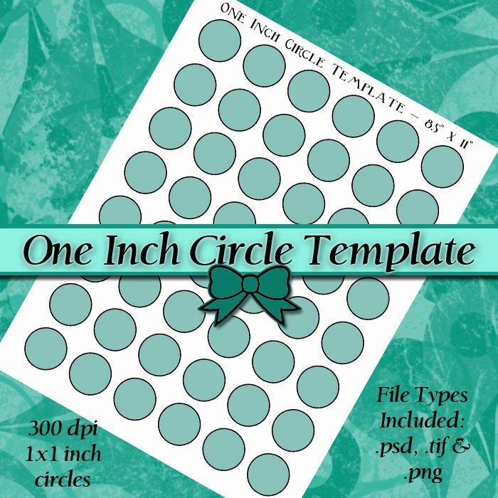 One Inch Circle Template Inspirational 1 Inch Circle Digital Collage Sheet Template