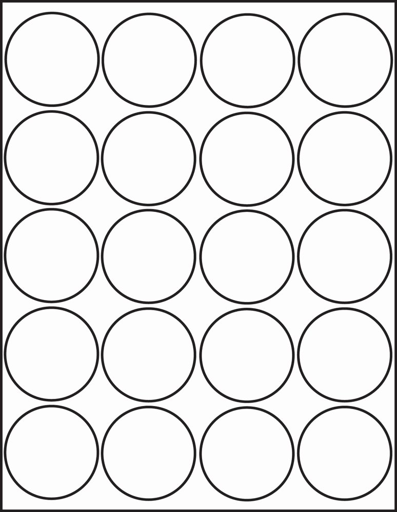 One Inch Circle Template Inspirational 500 Printable Laser Glossy White Round Stickers 2 Inch