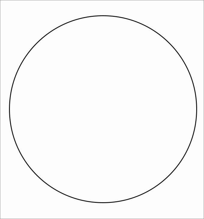 One Inch Circle Template Inspirational Circle Template Printable