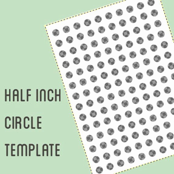 One Inch Circle Template Lovely Digital Collage Template 1 2 Inch Circle Half Inch