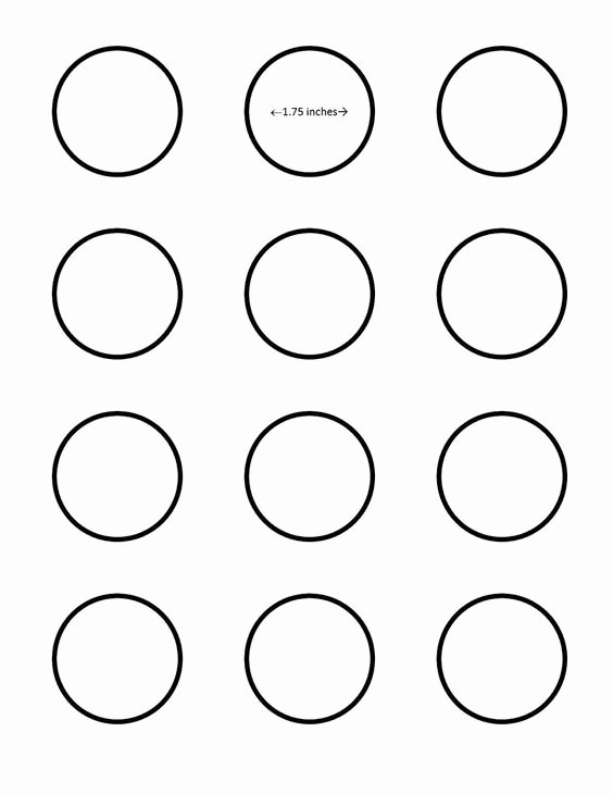 One Inch Circle Template Luxury Macaron 1 75 Inch Circle Template Google Search I Saved