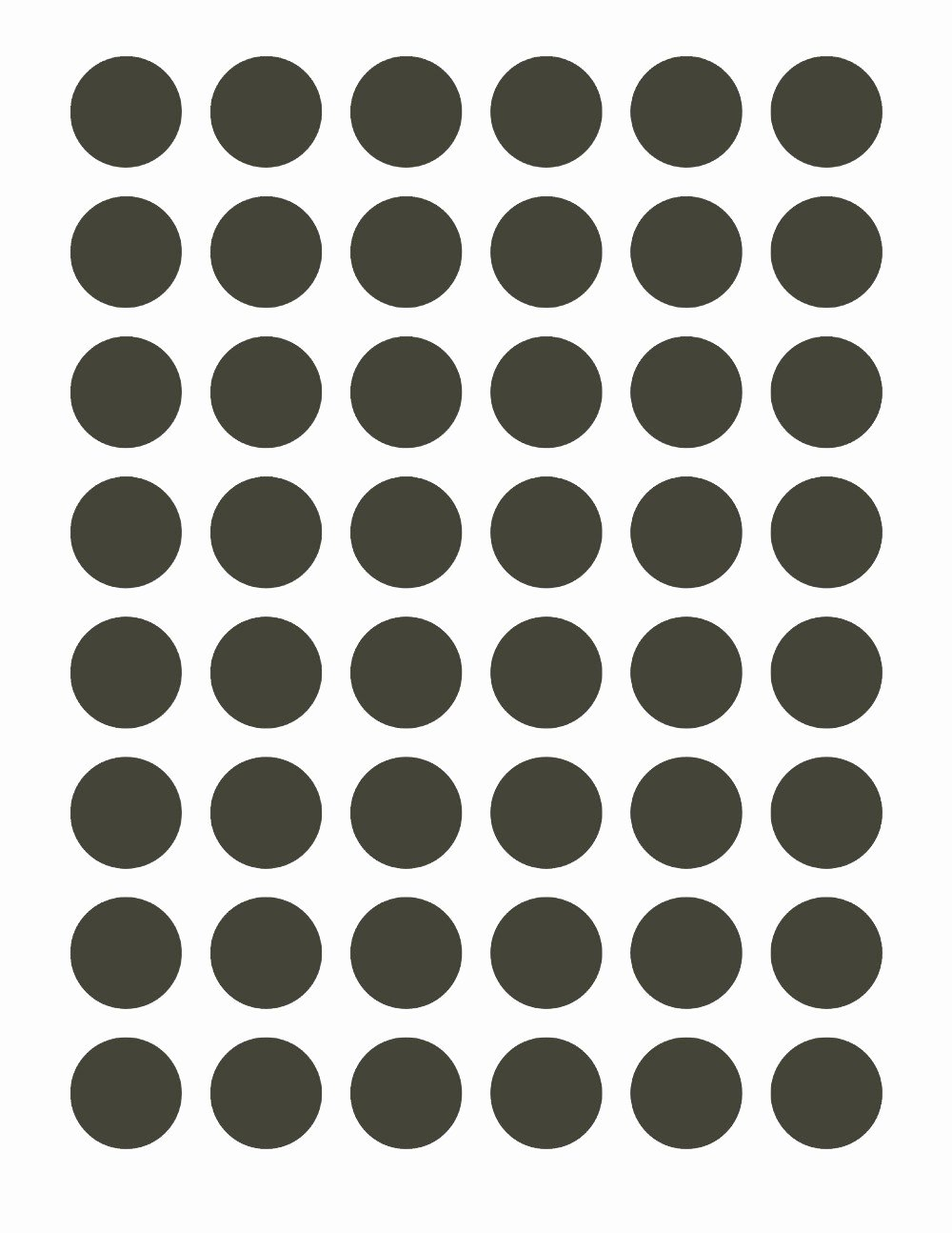 One Inch Circle Template Unique Psd Template Bottle Cap 48 Circles 1 Inch Diameter