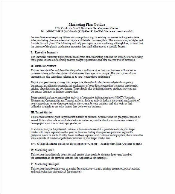 One Page Executive Summary Fresh E Page Marketing Plan Template 16 Free Sample